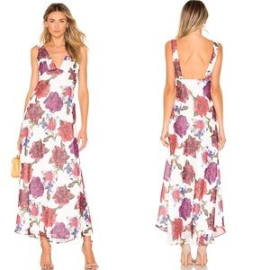 Privacy Please Descanso Lilac Floral Maxi Dress XS